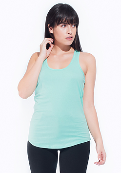 Women's Fitted Racer-Back Tank